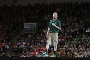 Lance speaking at Leander ISD Convocation in front of over 4,000 teachers and administrators...